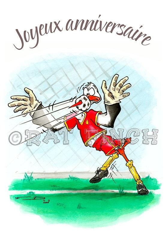 Cigogne Footballeur