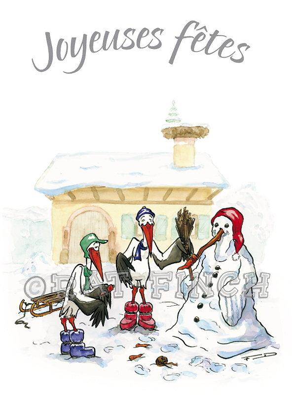 Cigogne Noël 04