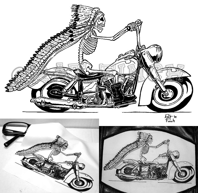 Squelette Biker