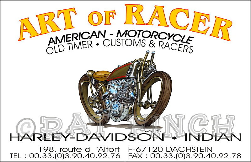 Art Of Racer Carte De Visite