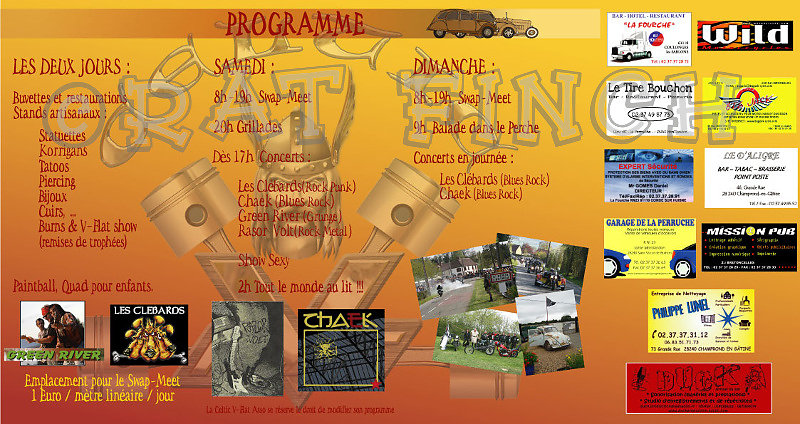 Celtic V-Flat 2009 Flyer verso