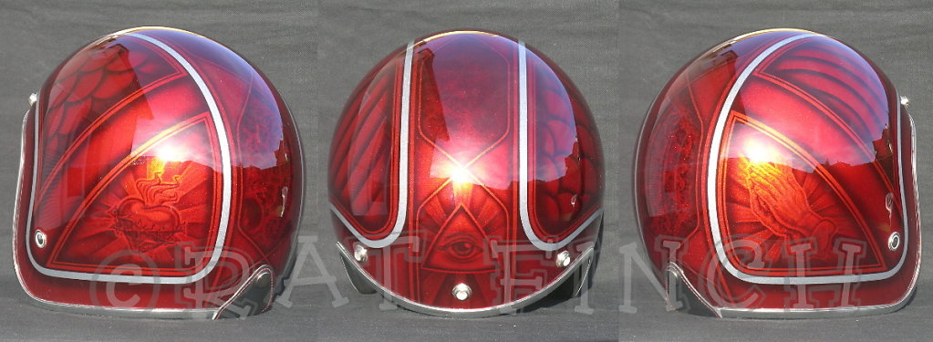 Casque rouge candy